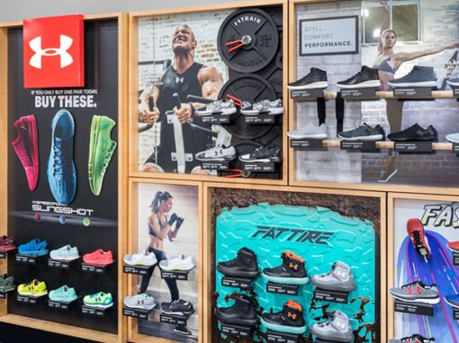 UA Footwear Wall